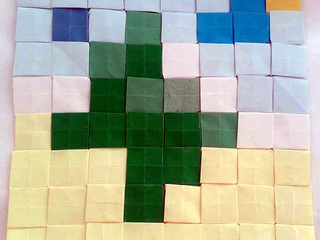 Olive Tree origami mosaic by Chteoui Chedli