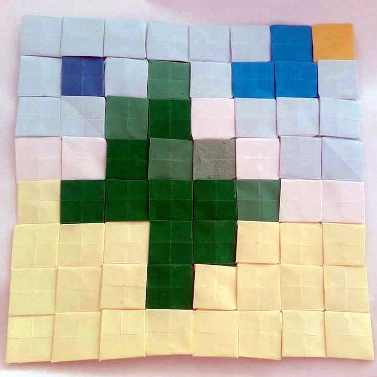 Olive Tree Origami Mosaic By Chteoui Chedli