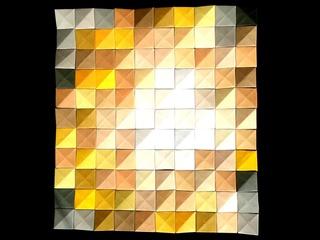Desert origami mosaic by Corinne Beaubeau
