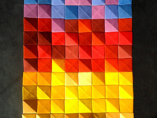 Sunset origami mosaic by Corinne Beaubeau