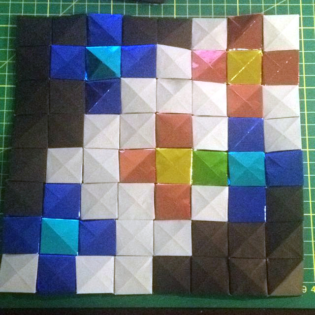 Southern Cross Origami Mosaic By Daniel Lee