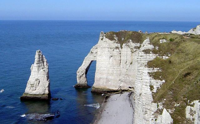 The cliffs at Etretat, Normandie, France.