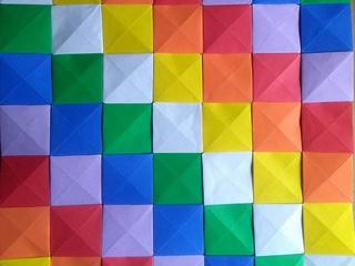 Wiphala origami mosaic by Luciana Segura