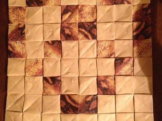 Alsacian Pretzel origami mosaic by Marie Noëlle Becker
