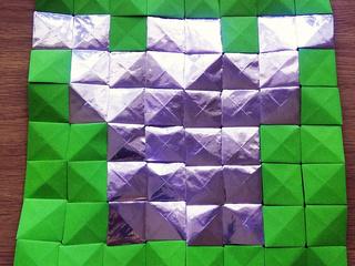 Dublin Castle origami mosaic by Michaela Bertsch