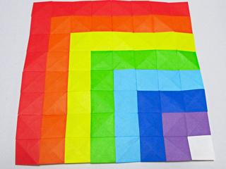Rainbow origami mosaic by Sophy's Sekai