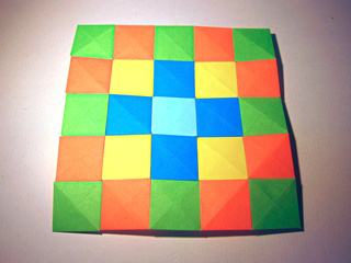 Colorful square origami pixels mosaic by Sophy's Sekai