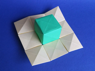3D surface experiment with origami pixels