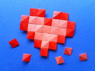 Origami Pixels Heart