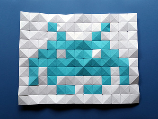 Origami Pixels Space Invader