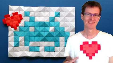How to make origami pixels and mosaics